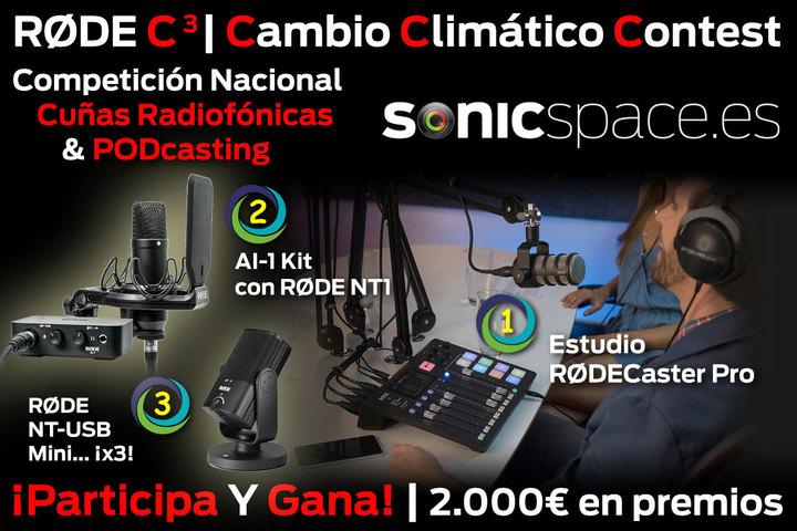 Premios del concurso de PODcast y cuñas radiofónicas RODE C3