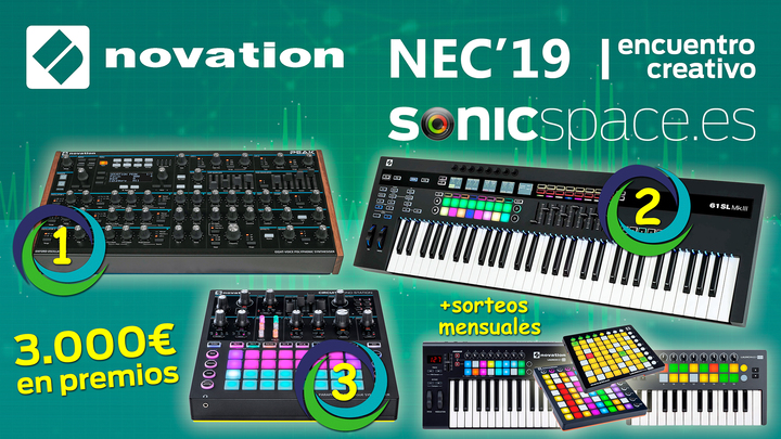 Los premios del concurso musical Novation Encuentro Creativo 2019 en SONICspace